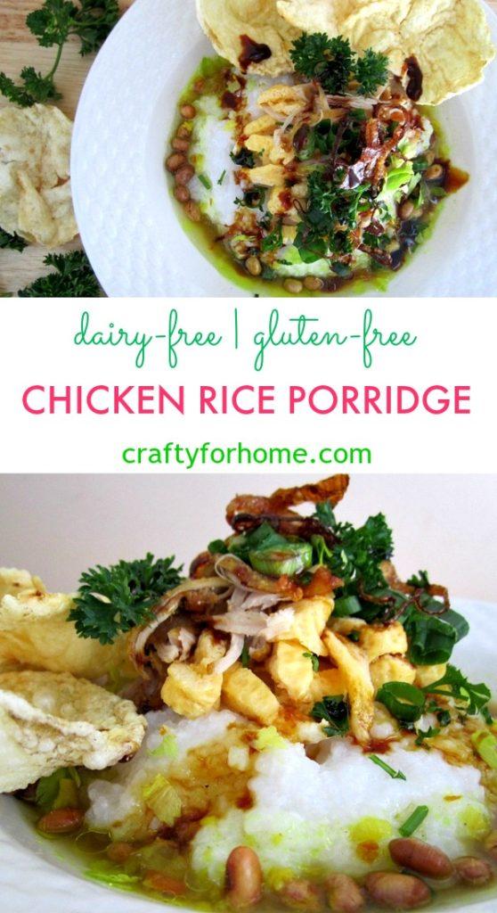 Bubur ayam chicken rice porridge