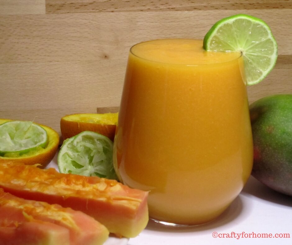 Papaya Mango Smoothies