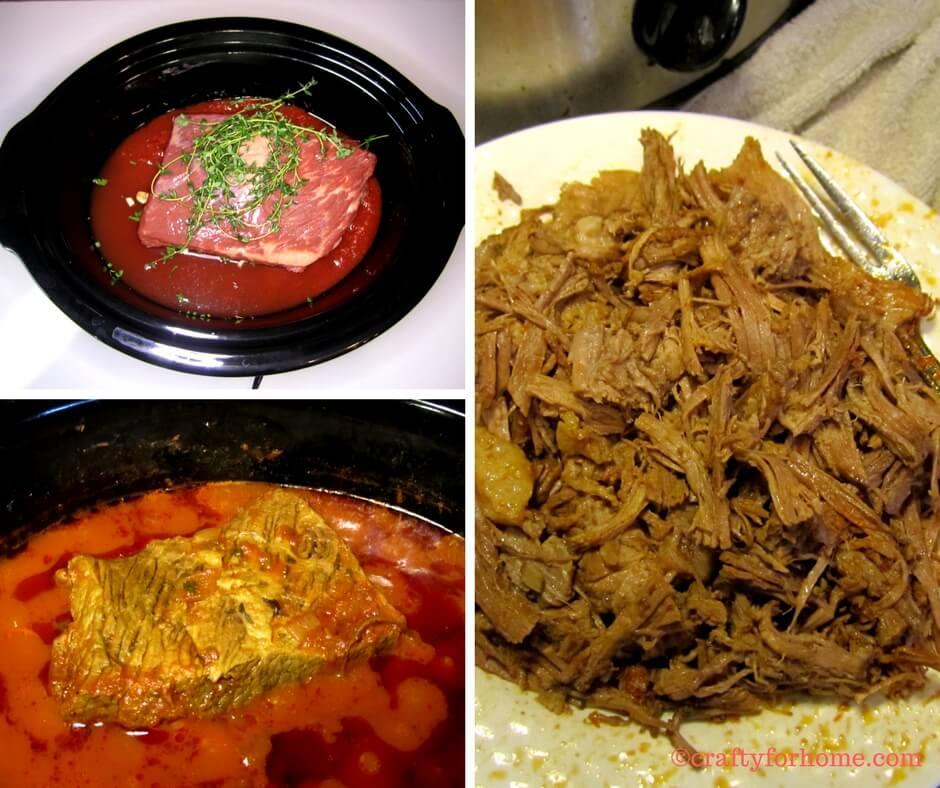 Slow cook beef ragu