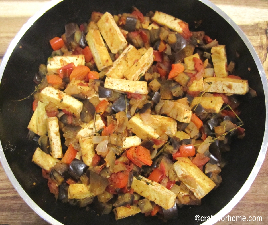 Eggplant Tofu Stir-fry | This meal is a quick and easy dairy-free vegetarian eggplant and tofu stir-fry recipe that is perfect for weekday meals or meal prep. #dairyfree #vegan #tofurecipes #eggplantrecipes for full recipe on www.craftyforhome.com