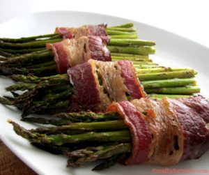 Easy beef bacon wrapped asparagus, dairy-free, gluten-free
