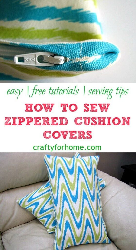 How To Sew A Zippered Cushion Cover Crafty For Home