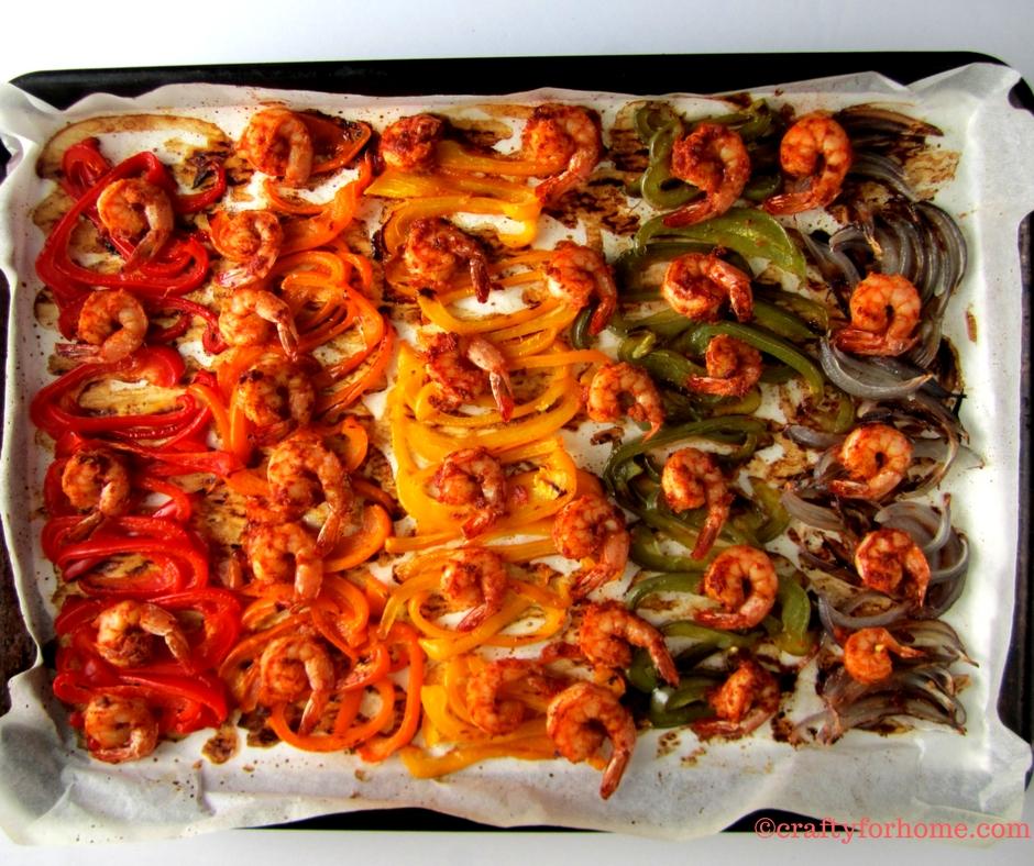Shrimp Fajita With Mango Salsa