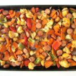 Sheet Pan Turkey Sausage With Veggies