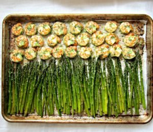 Sheet Pan Honey Garlic Asparagus Shrimp