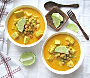 Tofu Chickpea curry
