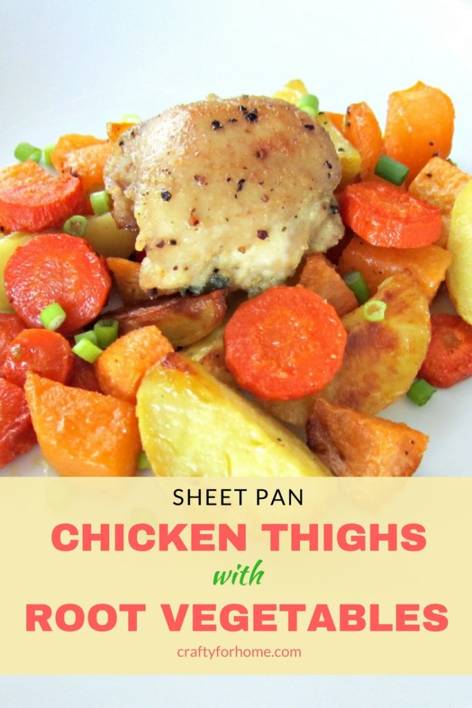 Sheet Pan Chicken Thighs With Vegetables