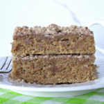 Easy dairy-free Coffee Flavored Sheet Cake recipe with brown sugar streusel topping for dessert, breakfast or enjoy it with a cup of coffee for afternoon snack