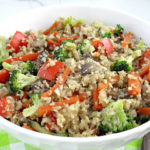 Easy cauliflower fried rice recipe for a healthy vegan inspired meals and loaded with vegetables. Healthy, soy-free, dairy-free, gluten-free, nut-free, vegetarian, vegan.