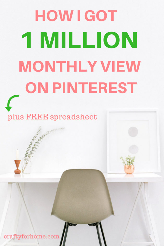 Are you ready to get to the next level on Pinterest? Here I will show you how I do Pinterest. These steps proof me that I can increase my monthly view from only thousands to over one million in just three months. For more details on craftyforhome.com