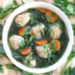 Turkey Meatball Soup. An easy and hearty soup recipe for weekday meals or anytime you want for a quick supper, perfect for fall or winter meal ideas. Dairy-free, gluten-free, grain-free, clean eating.