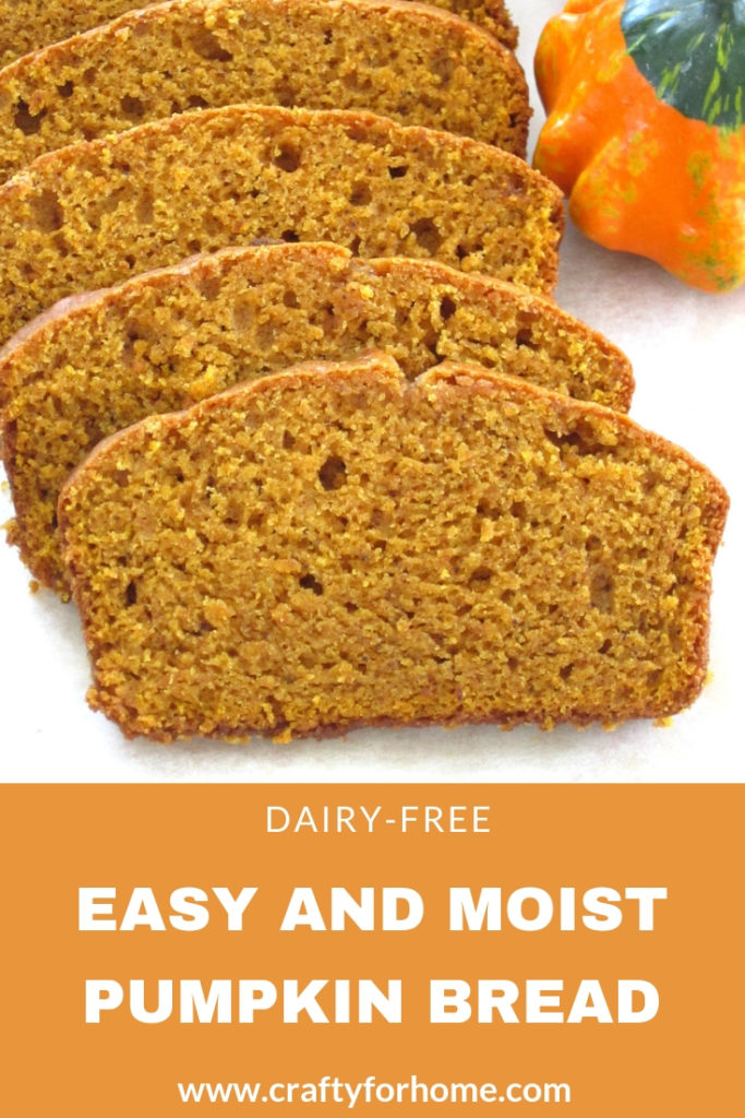 Dairy-free Easy Pumpkin Bread