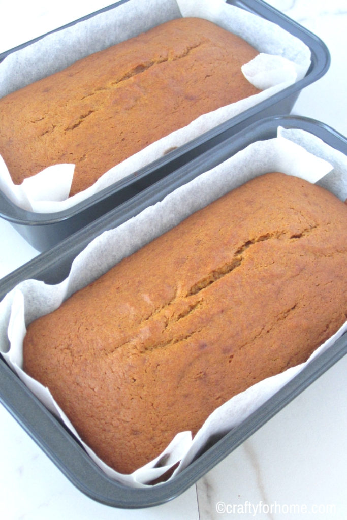 Baking pumpkin bread