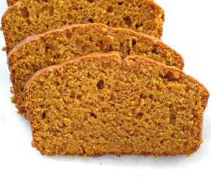 Easy classic pumpkin bread with a dash of pumpkin spices. A loaf of bread that stays soft and moist in the next day too. Dairy free, nut free.