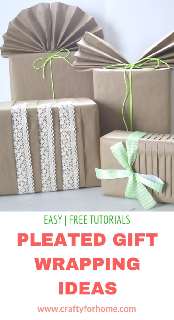 Brown Paper For Gift Wrapping Ideas | Use brown paper for a simple DIY gift wrapping ideas and decorate it with ribbon, lace, and decorative cord for Christmas and any occasions. #giftwrappingideas #giftwrapping #giftwrappingforchristmas #easygiftwrapping #brownpapergiftwrapping #kraftpapergiftwrapping for full tutorials on www.craftyforhome.com