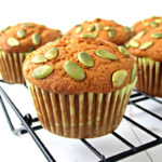 Easy Dairy-Free Pumpkin Muffins | Moist and easy homemade dairy-free pumpkin muffins recipe top it up with pumpkin seeds, perfect for fall season treat for whole family and friends.