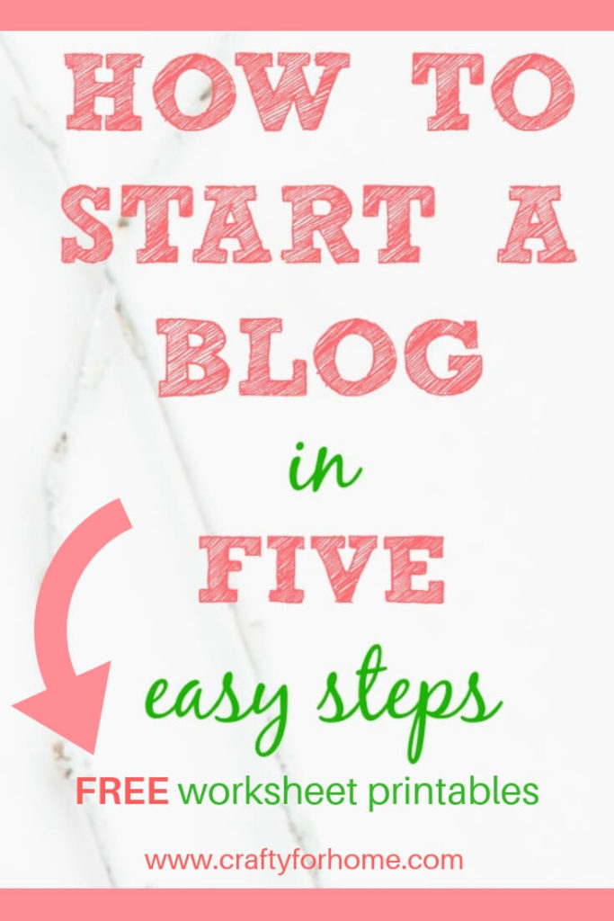 How To Start A Blog | Follow these tutorials of how to start a blog from scratch the right way and earn extra cash by expressing your ideas. Plus tips on how to pick your domain name, pick niches, choose a theme, and all you need to launch the blog easily.#howtostartablog #makemoneyonline #onlinebusiness #bloggingforbusiness #bloggingtutorials for details on www.craftyforhome.com