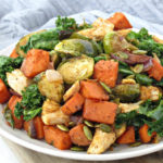 Leftover Turkey With Roasted Vegetables | Healthy leftover turkey recipe with roasted vegetables for clean eating, dairy-free and gluten-free meal option for the whole family.