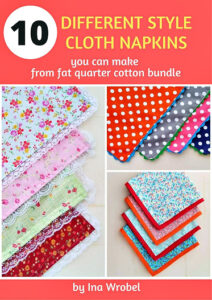 10 Different Style Cloth Napkins Book Cover