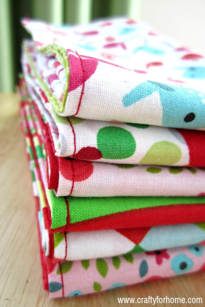 Handmade Cloth Napkins Easy Tutorials Crafty For Home
