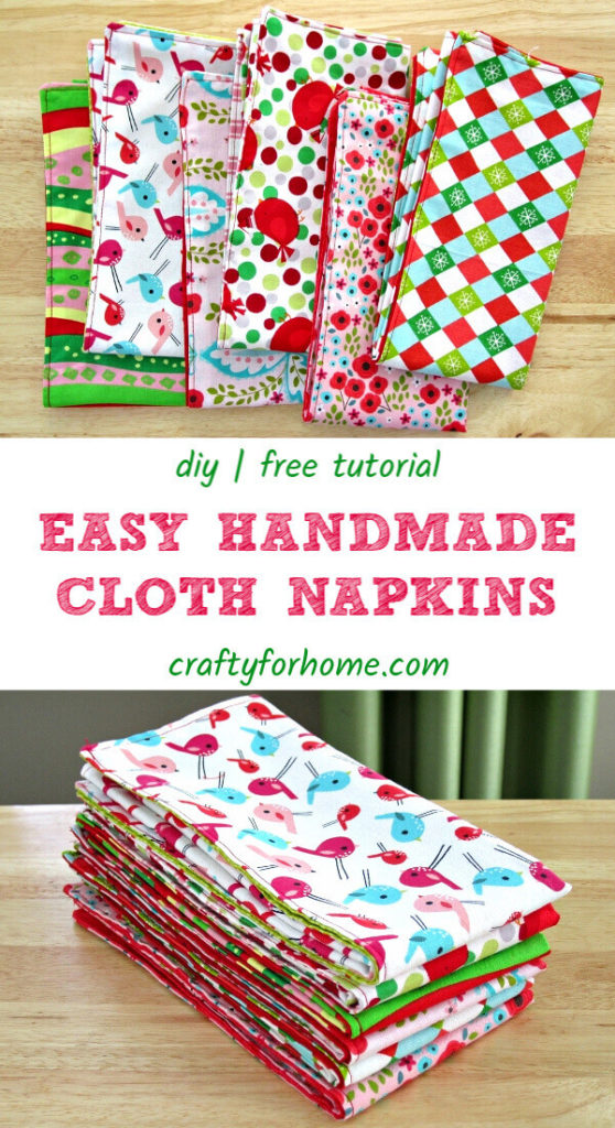 Handmade Cloth Napkins Easy Tutorial
