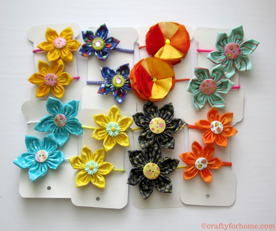 4 Easy Ways To Make Fabric Flower | Learn how easy to make four different fabric flowers, and you can use it for any crafts around the house, embellish the cloth, gift wrapping, hair accessories, also craft for sale.