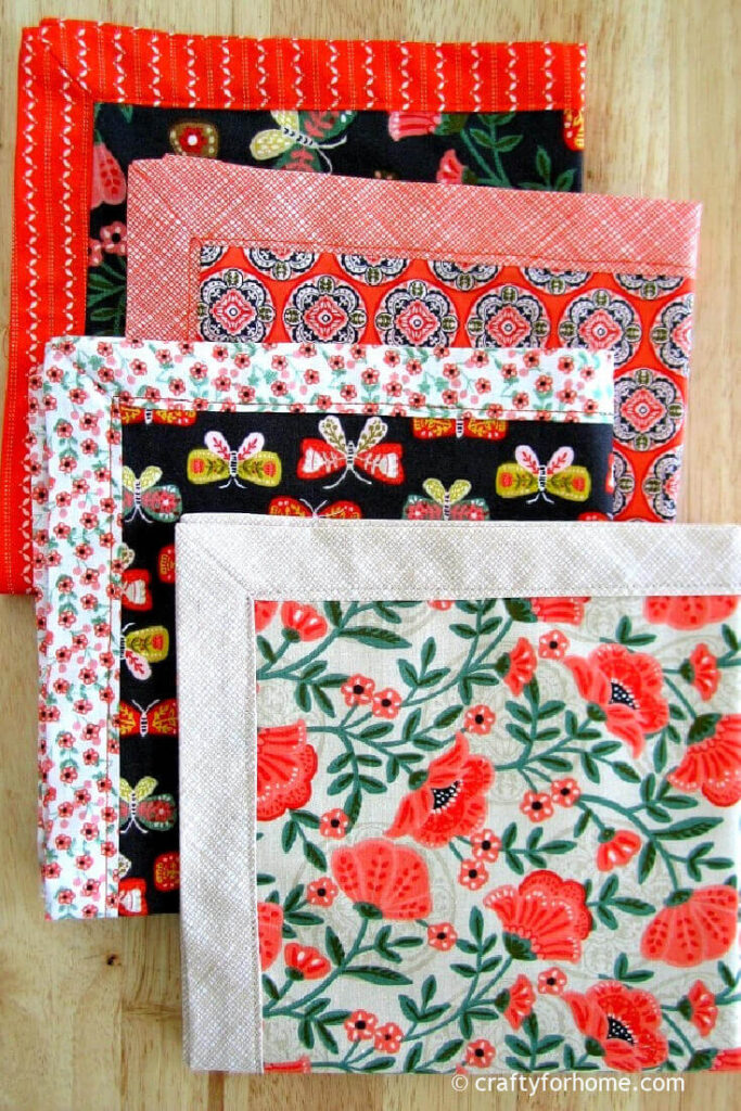Self Binding Napkins