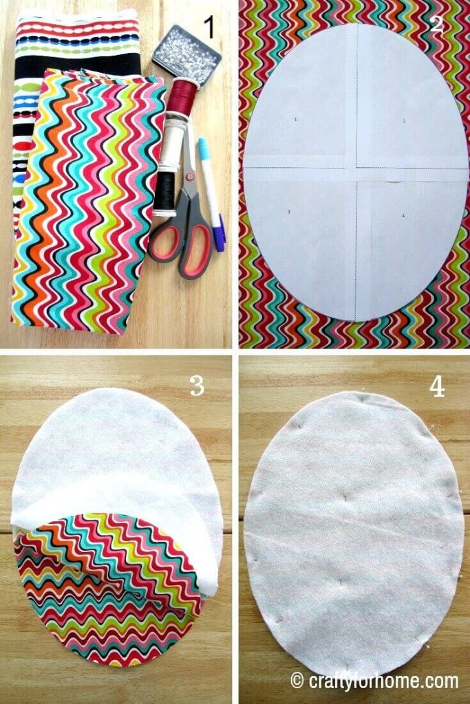 What you need to make oval shaped placemats | Crafty For Home