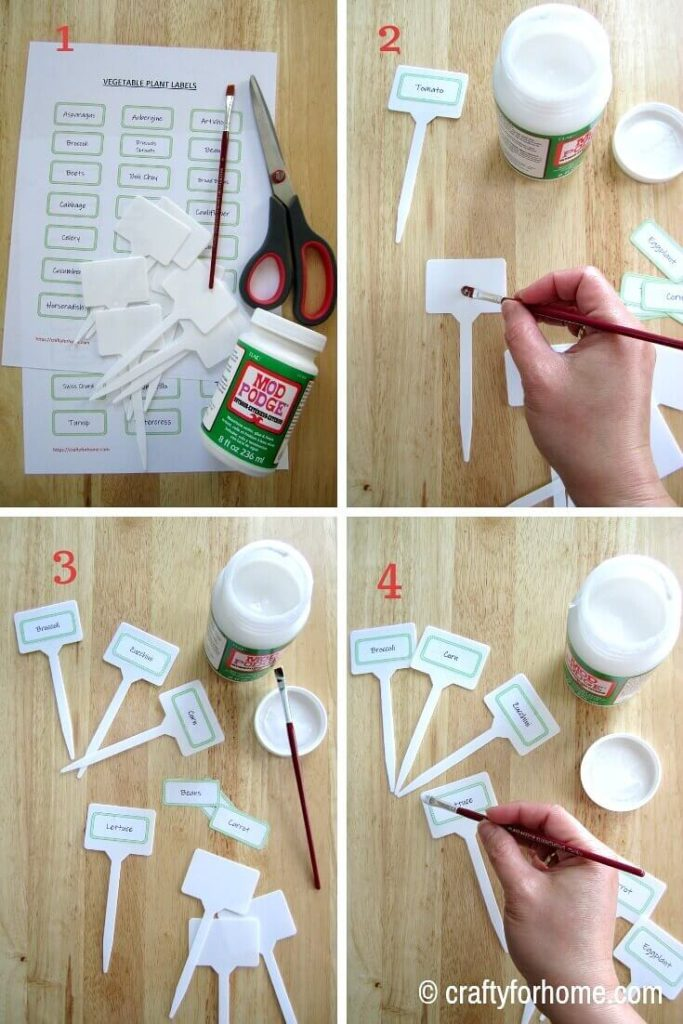 Free Printable Vegetable Plant Markers | Make your plant markers for your vegetable garden with this free printable.| Crafty For Home