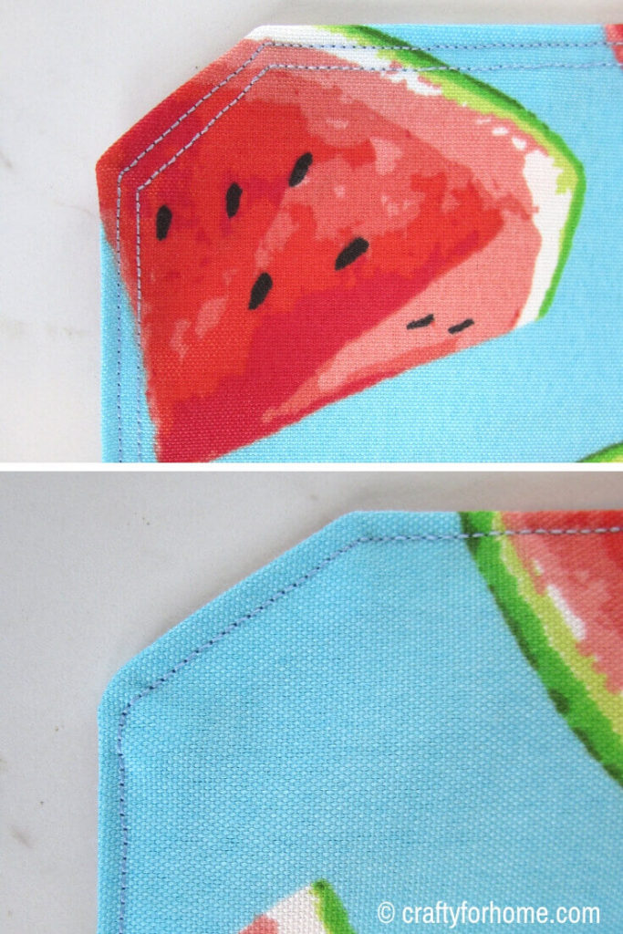 Topstitch On Placemat For Outdoors
