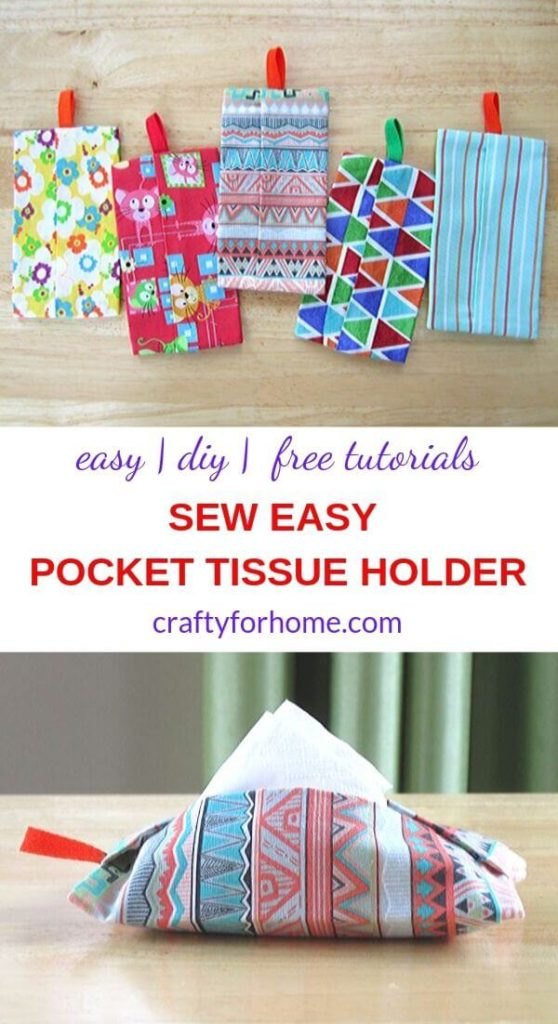How To Sew Pocket Size Tissue Holders