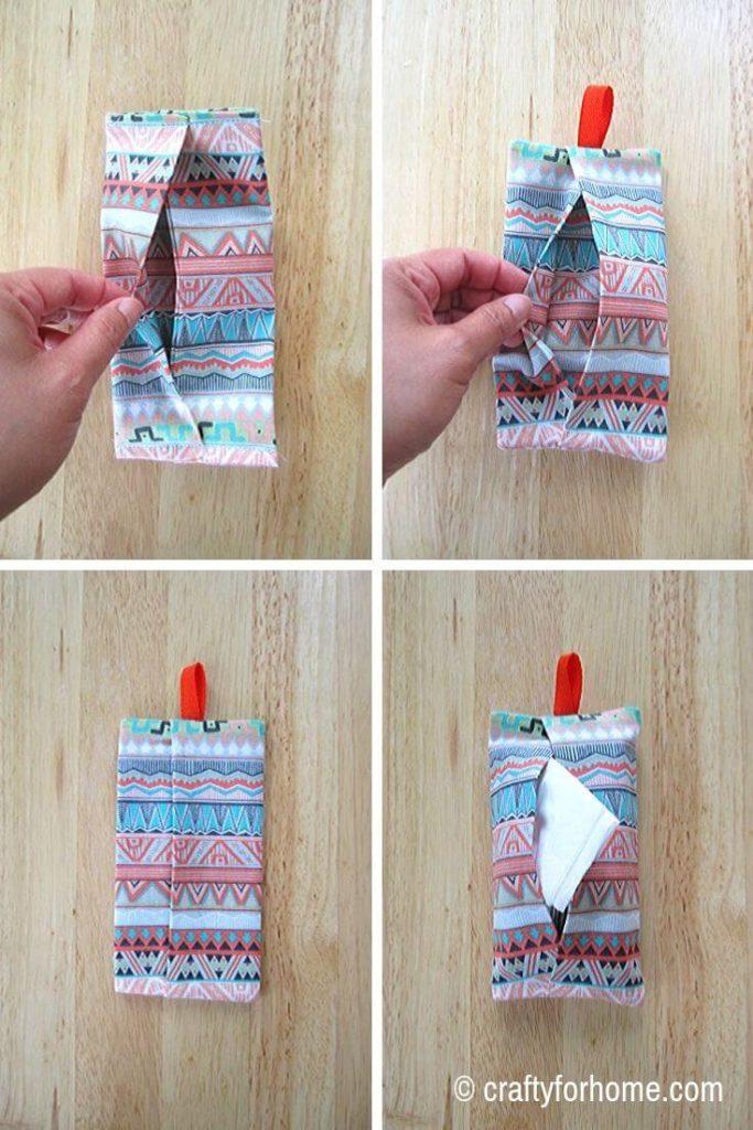 Pocket Tissue Holder With Ribbon
