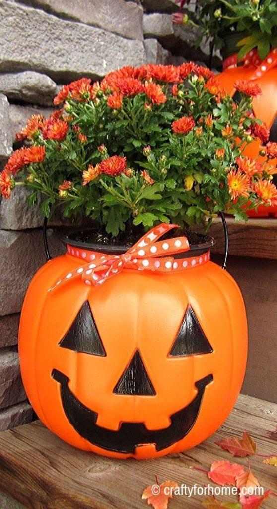 Plastic Pumpkin Planters