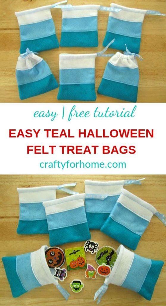 Teal Halloween Treat Bag