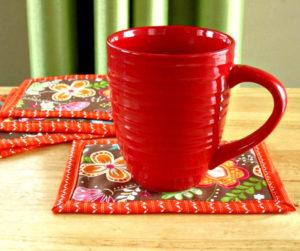 Easy Binding Mug Rug