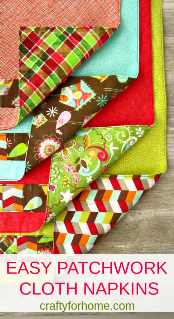 Easy Patchwork Cloth Napkins Tutorial