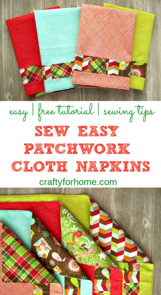 Sew Easy Patchwork Cloth Napkins