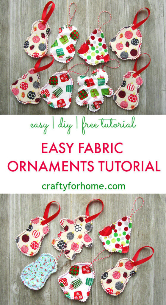 Easy Fabric Ornament Tutorial