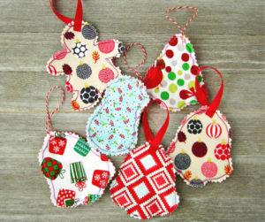 Easy Fabric Ornaments