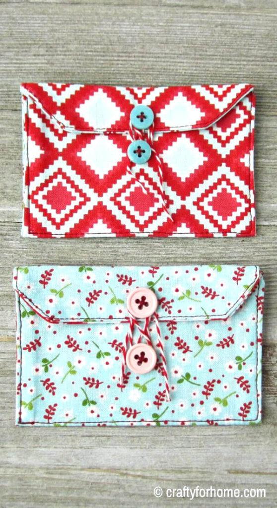 Envelope Style Fabric Gift Card Holder