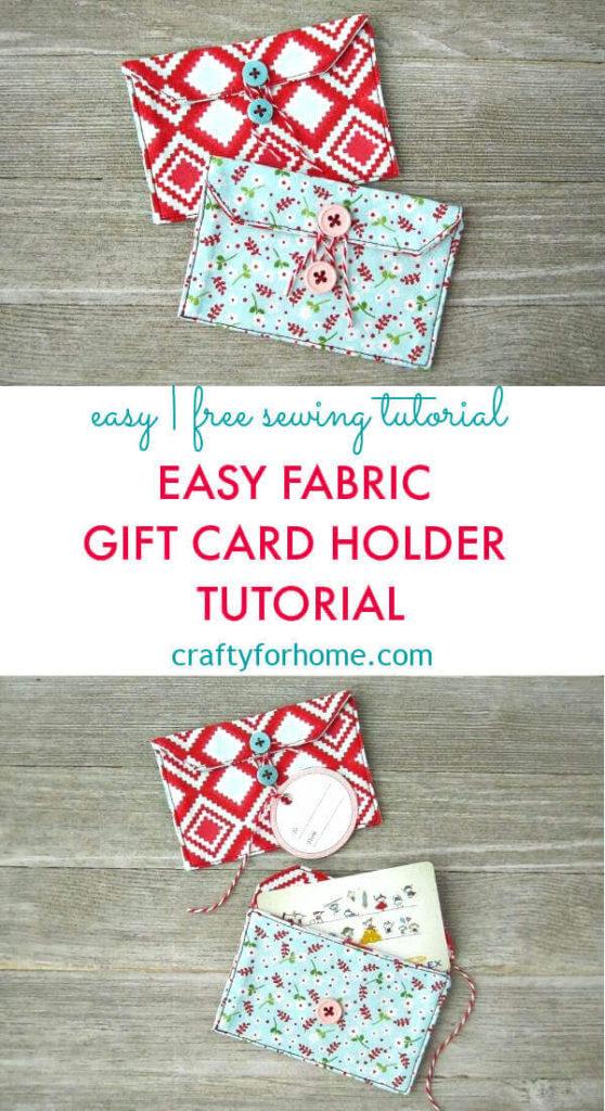 Fabric Gift Card Holder Tutorial