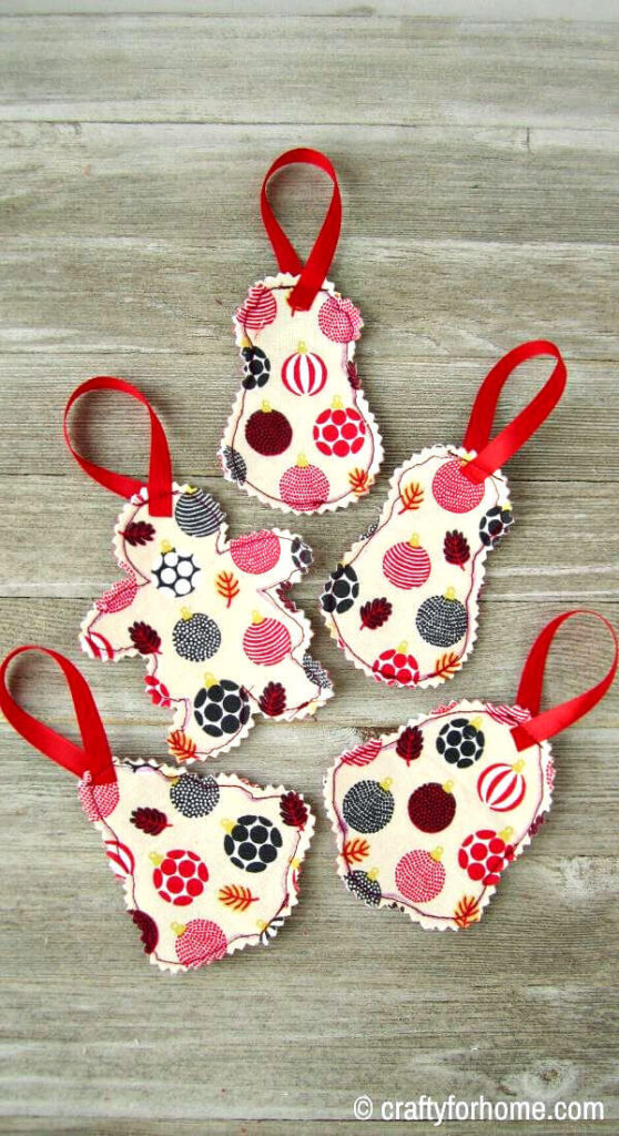 Fabric Ornaments For Christmas