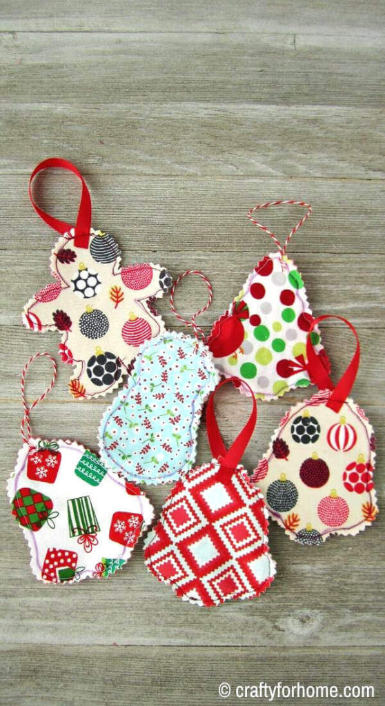 Fabric Ornaments From Scraps
