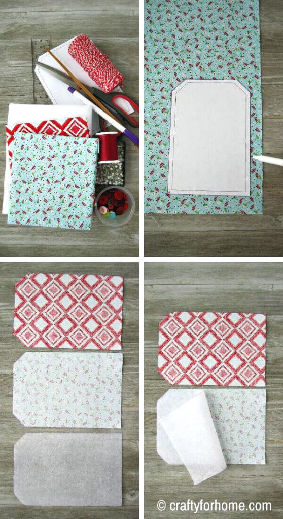 Fabric For Making Gift Card Holder