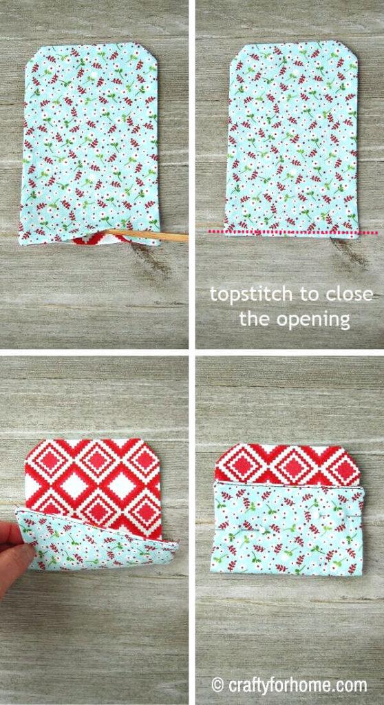 Folding Fabric Gift Card Holder