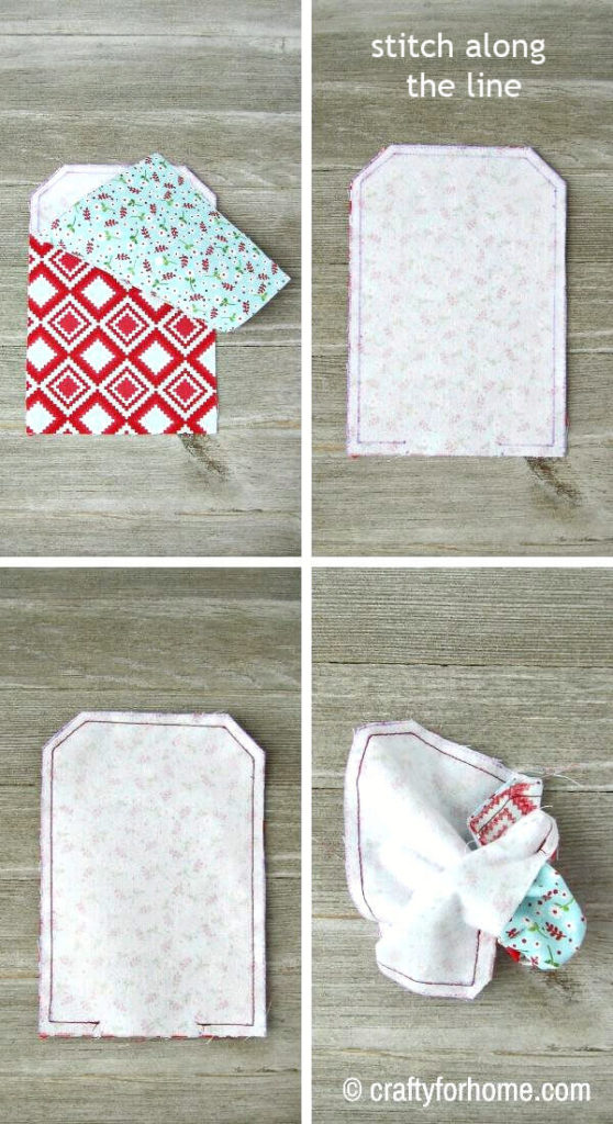 Sewing Fabric Gift Card Holder