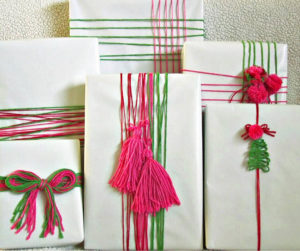 Easy Gift Wrapping Ideas Using Yarn