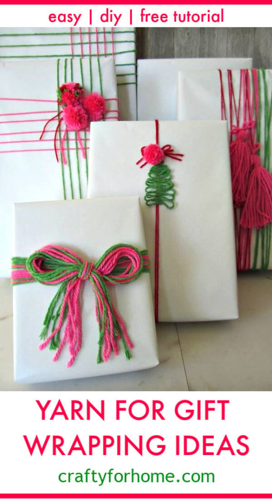 Yarn For Gift Wrapping Ideas