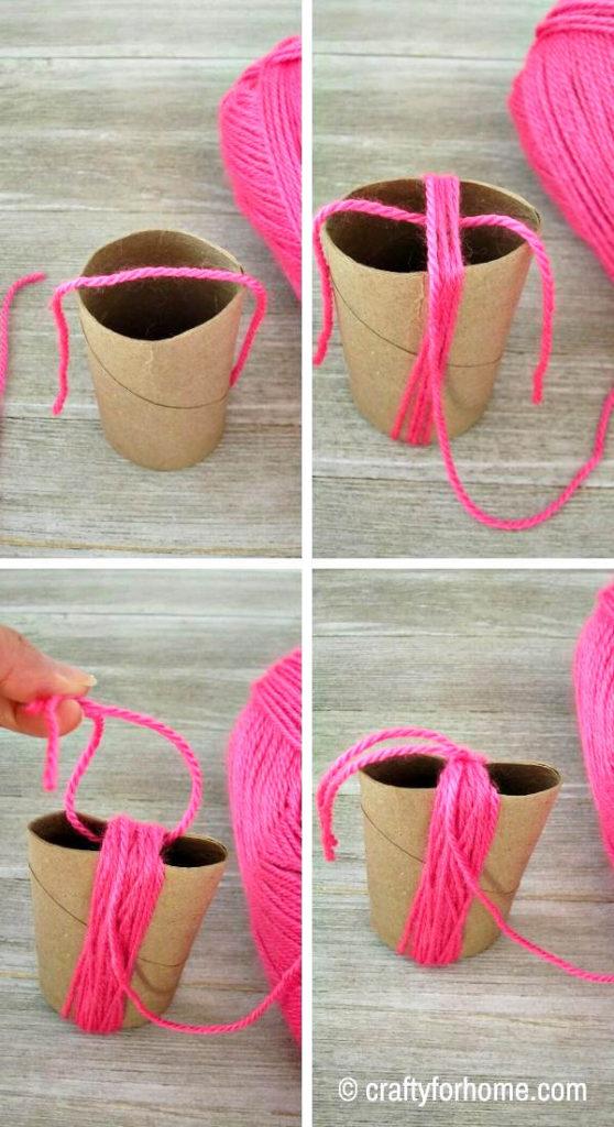 Yarn Tassel By Using Tissue Paper Roll