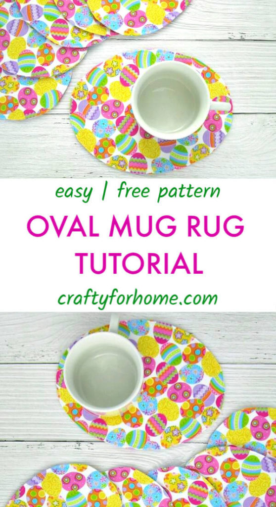 Easy Oval Mug Rug Tutorials